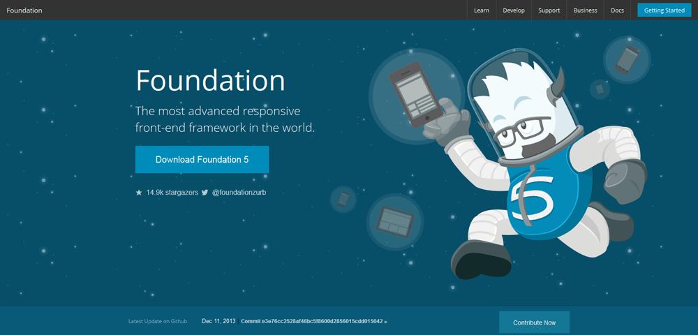 Foundation framework for building websites