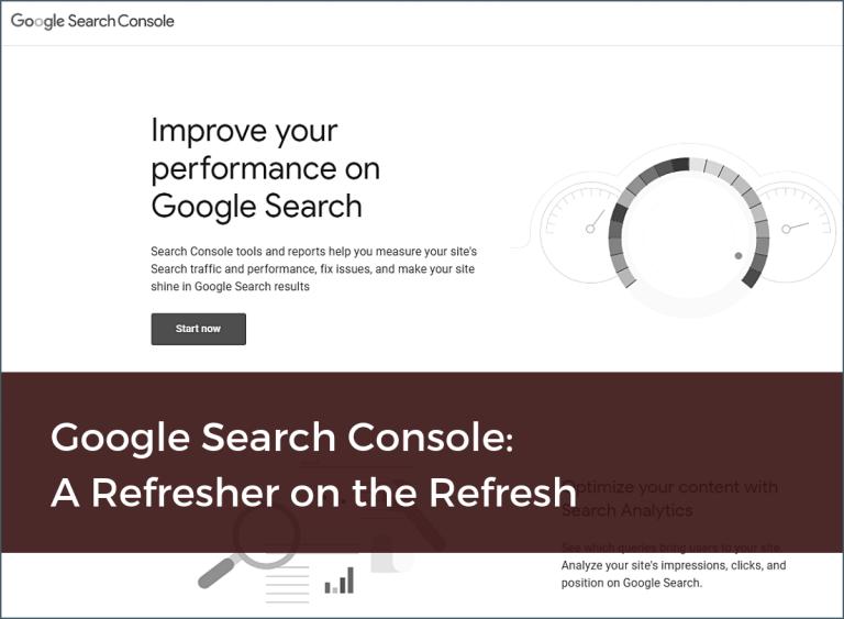 Google Search Console Refresh