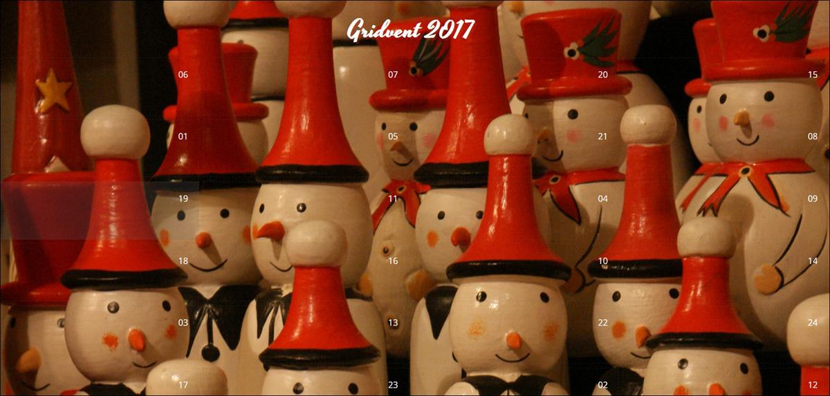 Happy Gridvent 2017 Advent Calendar.