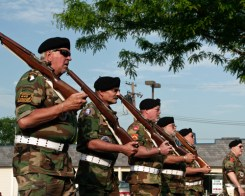 honor guard marching in 2011 Plymouth Memorial Day Parade