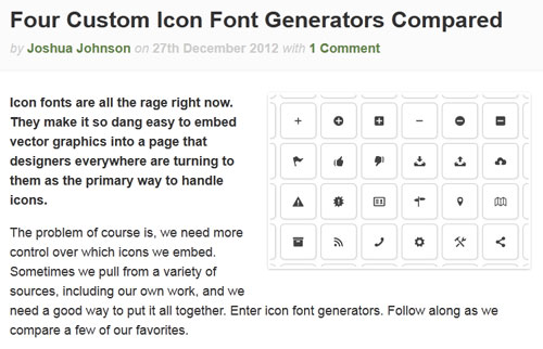 custom icon font generator