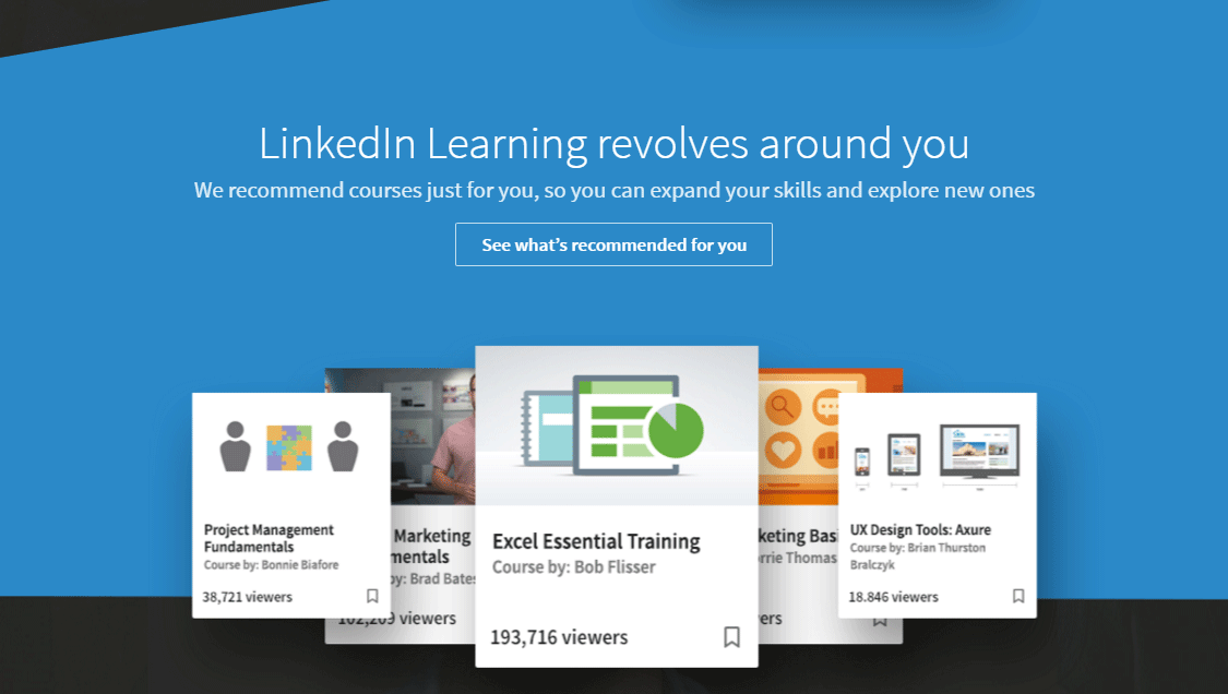 LinkedIn Learning revolves around you