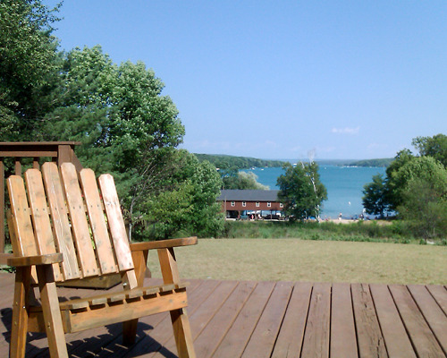 Overlooking Walloon Lake from the Education Center