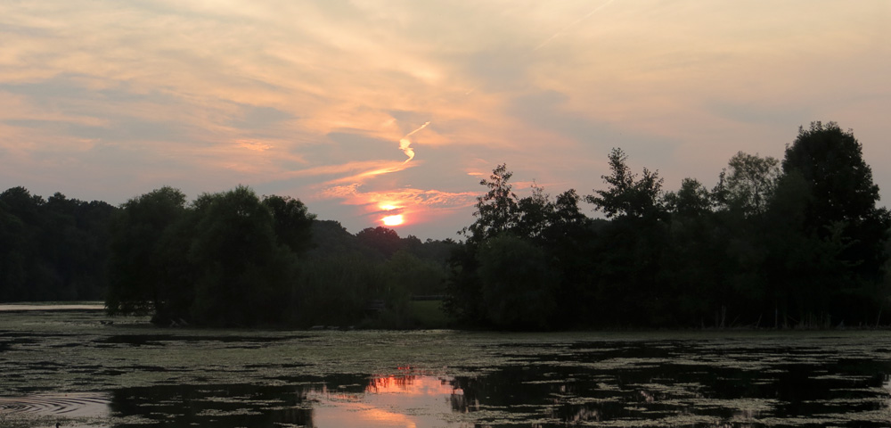 Sunset over Newburgh Lake at Newburgh Pointe