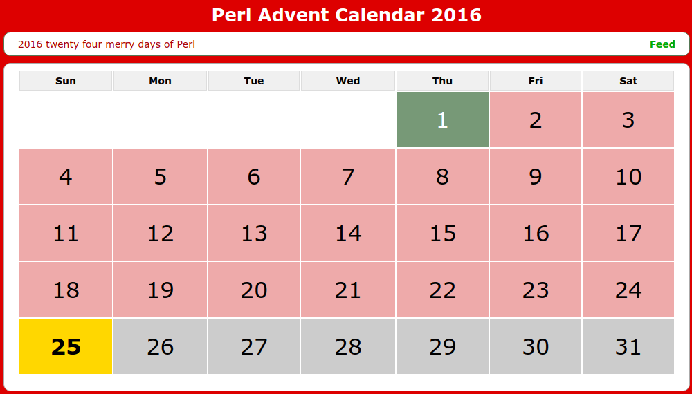 Perl Advent Calendar 2016