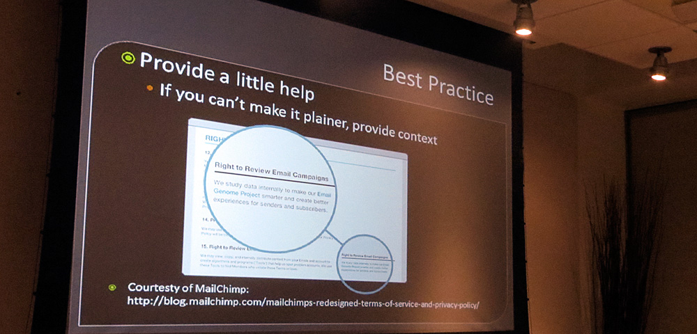 Plain language best practice: Provide help: if you can't make it plainer, provide contest