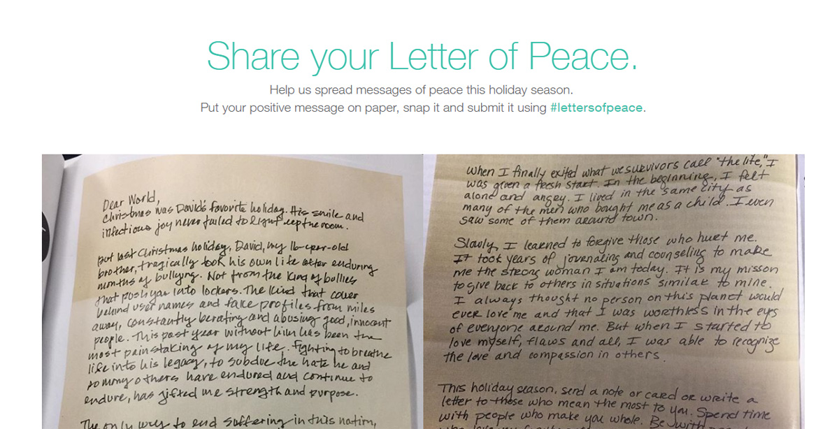 Letters of Peace: One Handwritten Letter at a Time