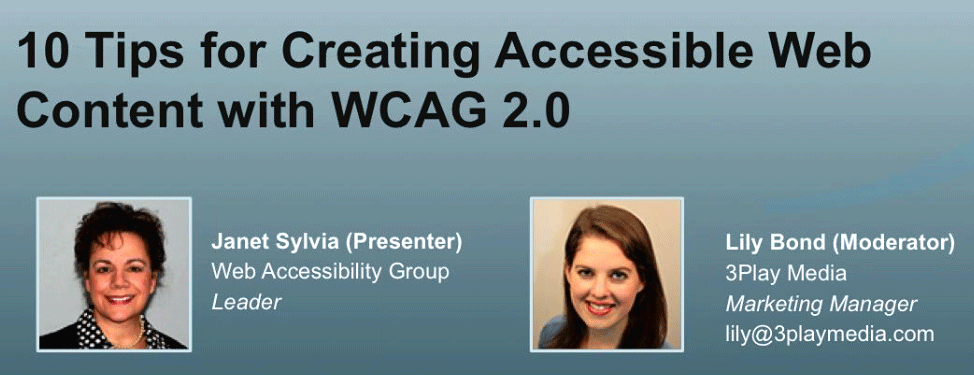 10 tips for creating accessible web content with WCAG 2.0