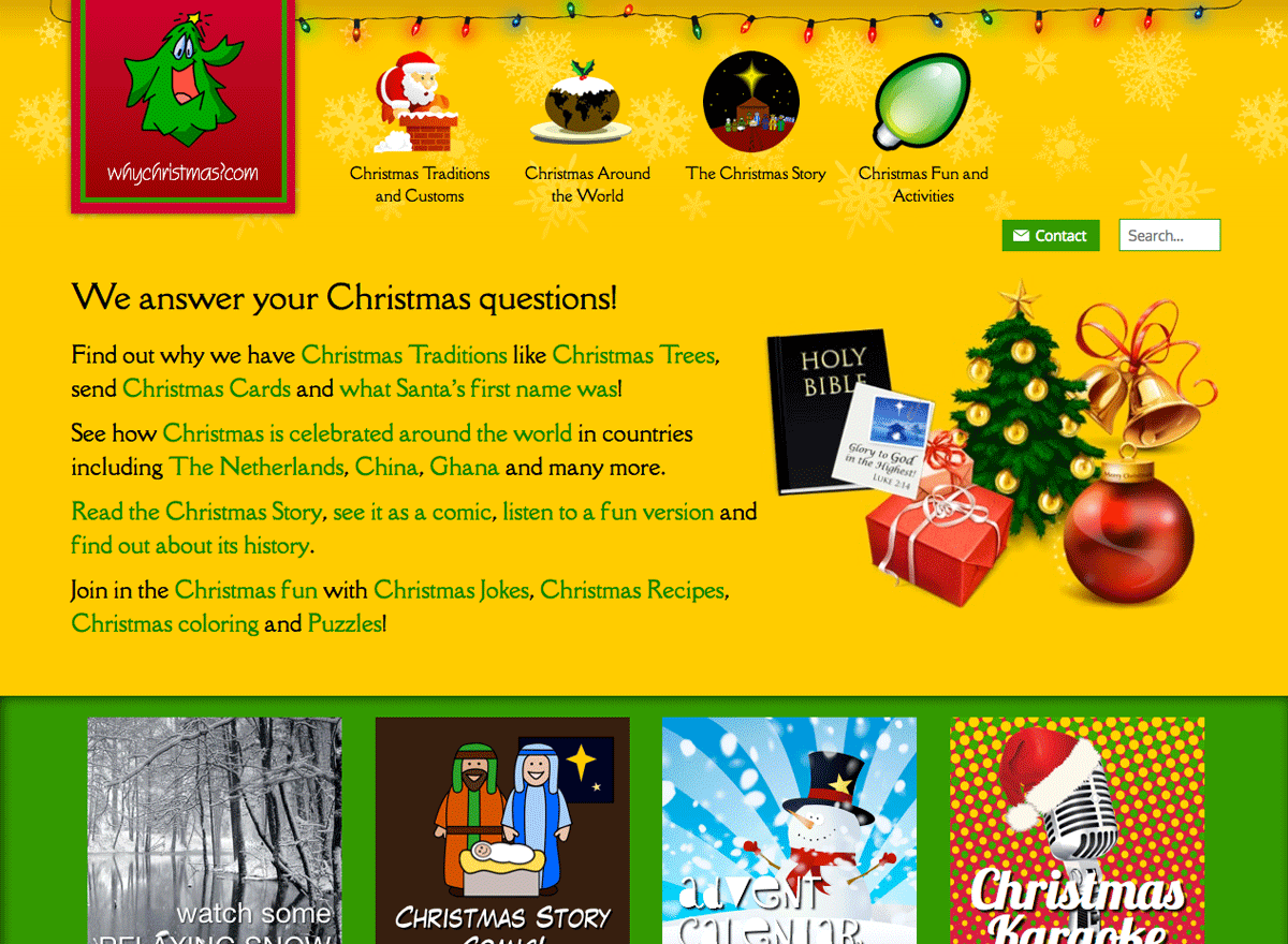 Why Christmas home page in 2018