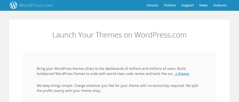 WordPress.com theme shop