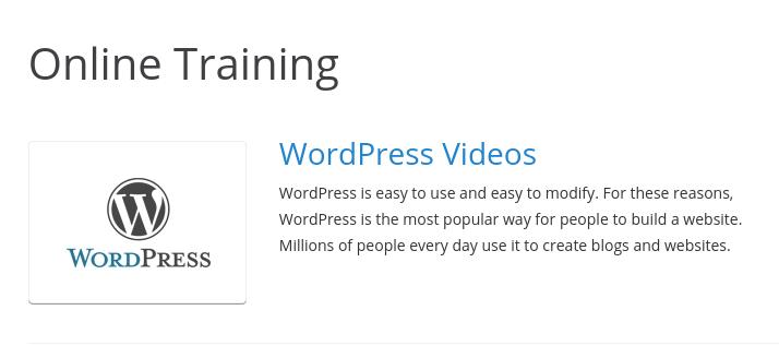 WordPress online training videos
