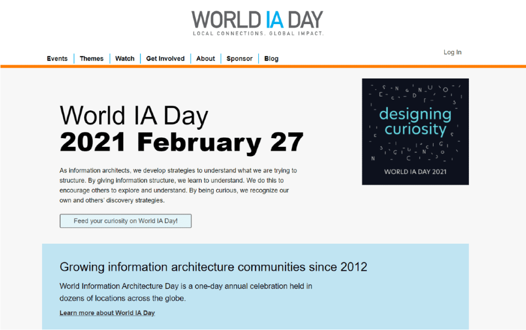 World IA Day 2021: Local Connections, Global Impact.