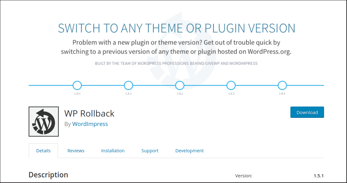 Share Your Favorite WordPress Plugin: WP Rollback