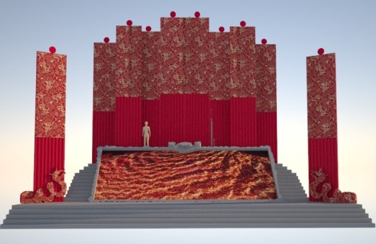 Nuova scenografia Turandot I atto
