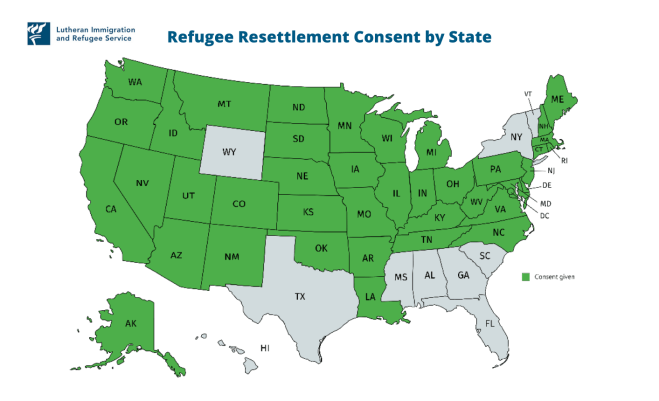 Consent Map Refugee Resettlement