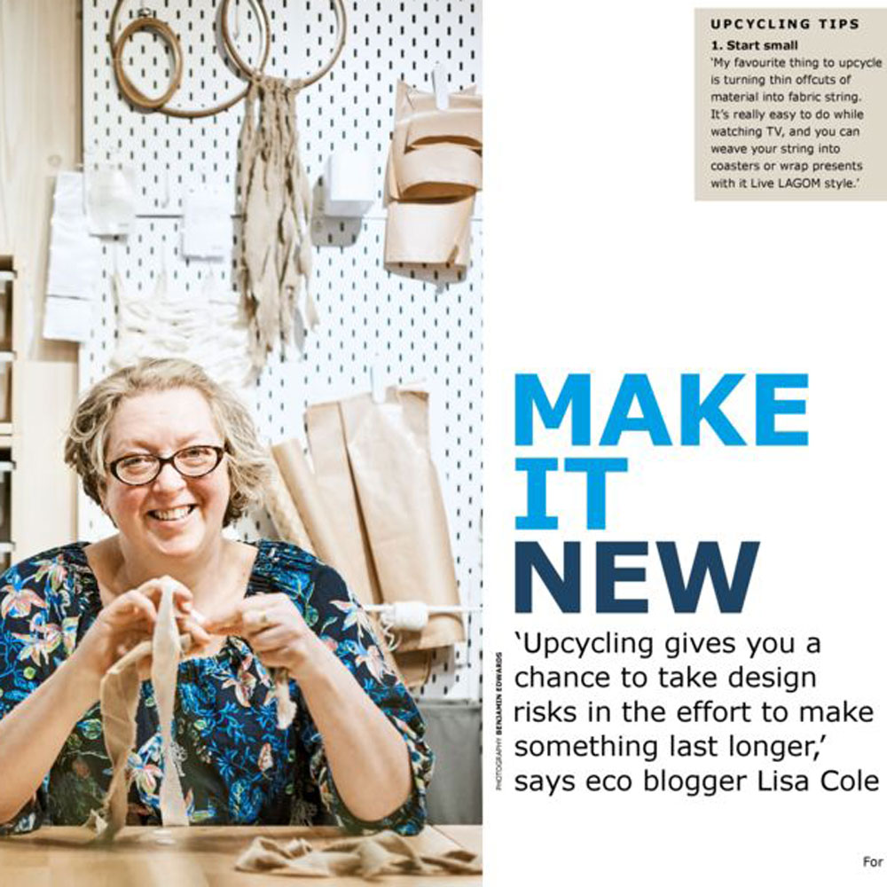 Lisa Cole blogger Photographed by IKEA for a catalogue