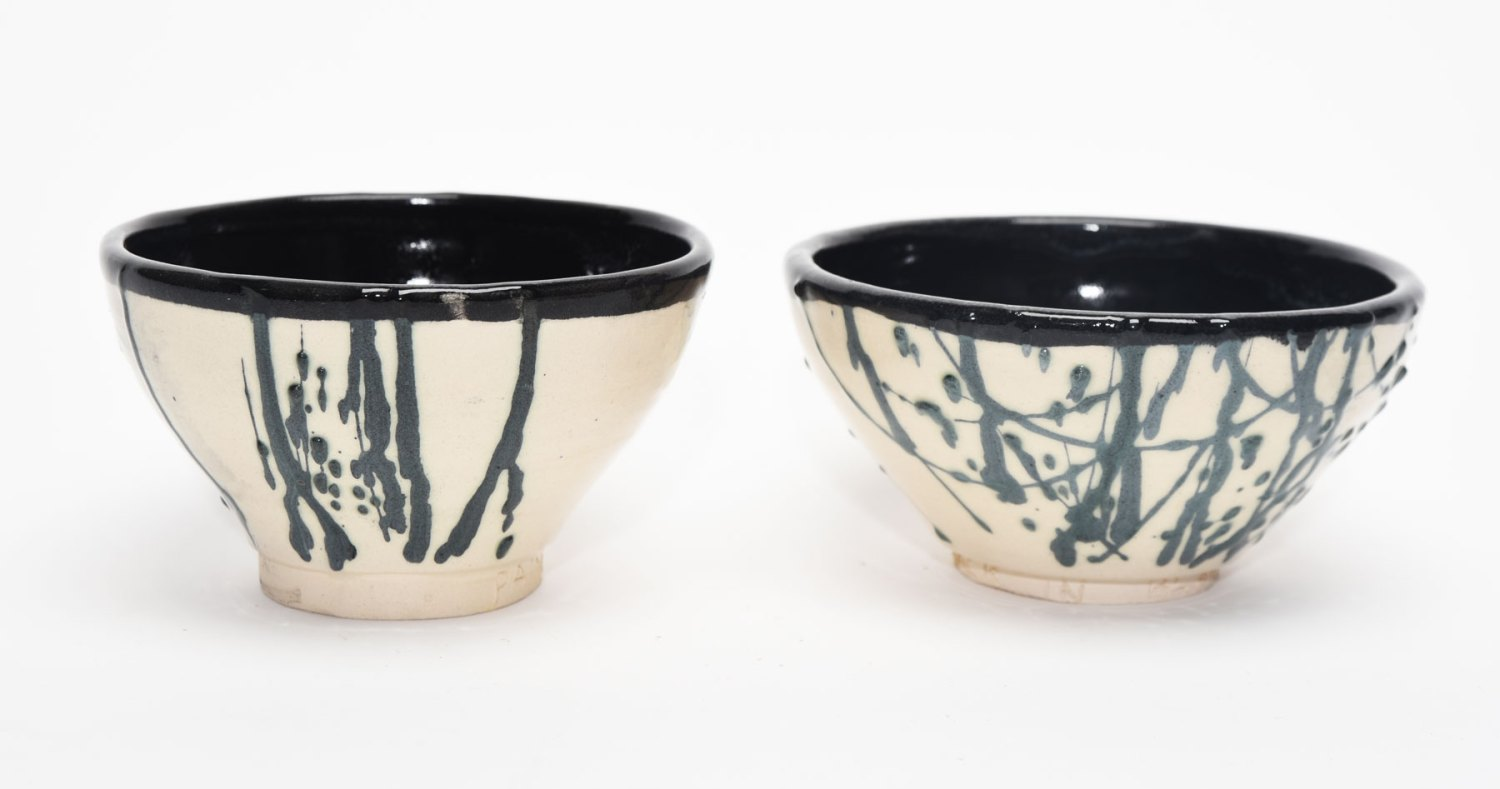 lines from songs are on the underneath of these bowls thanks to Arduino