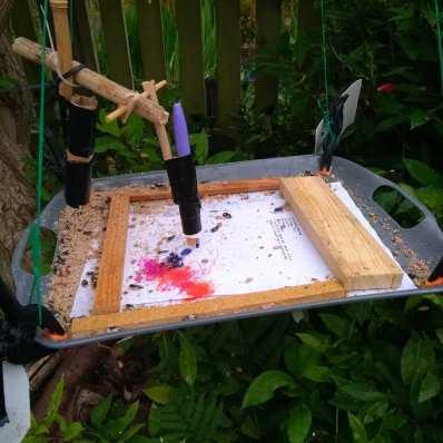 Bird and Wind Drawing machine