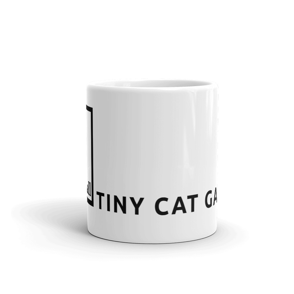 you can get a mug with tiny cat gallery branding on the sides