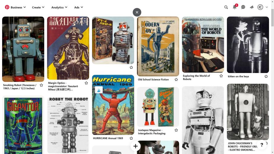 Pinterest robots neatly ordered in columns metallic humans