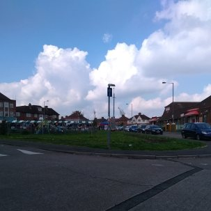 a gap between the lockdowns meant a market day on the Filwood Green