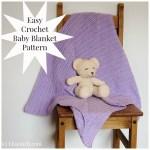 Easy Free Crochet pattern Baby Blanket