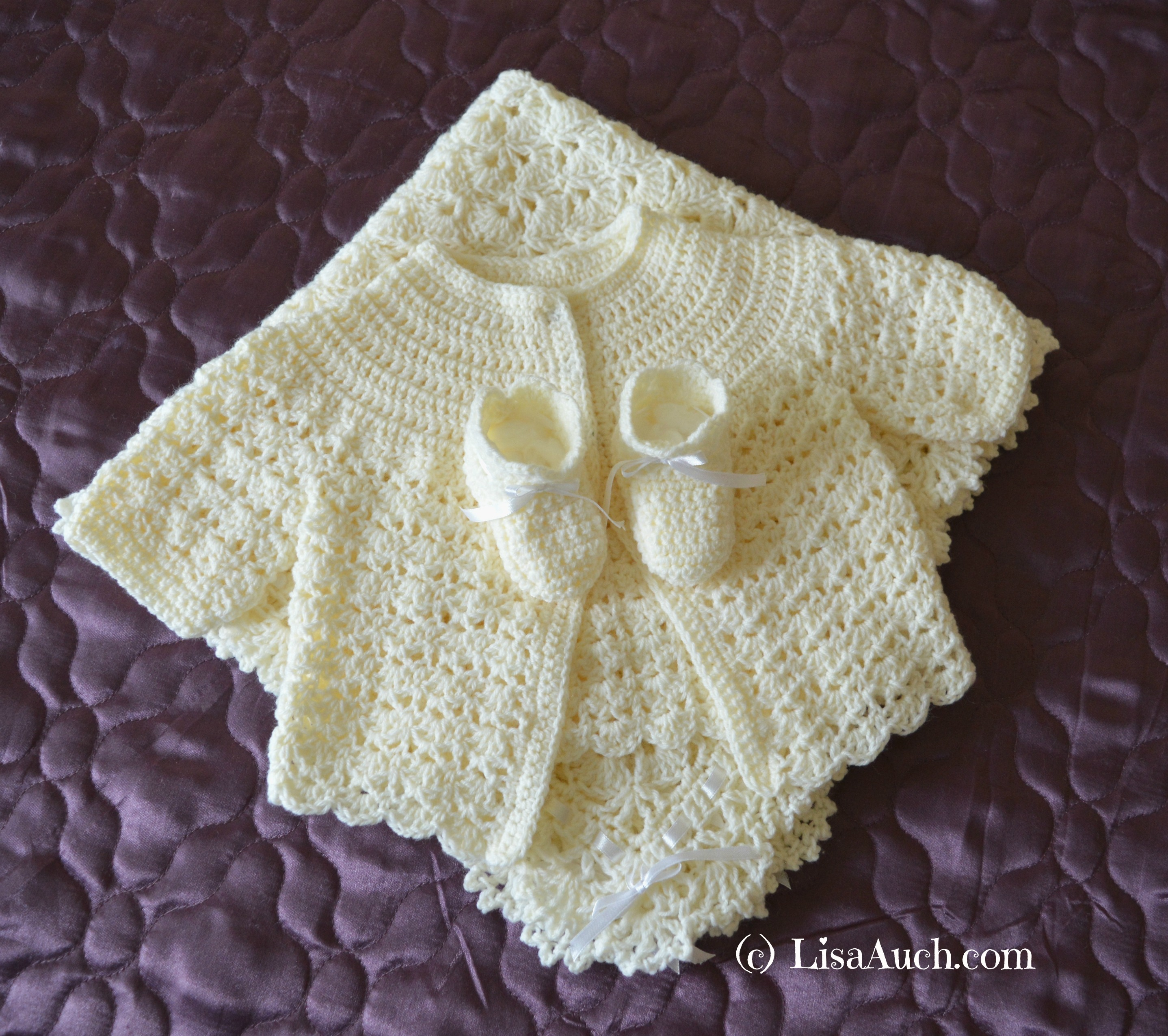 Free Crochet Baby Cardigan Patterns | LisaAuch.com