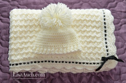 crochet baby blanket pattern and hat
