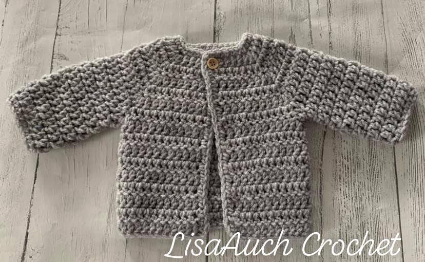 easy crochet baby cardigan sweater