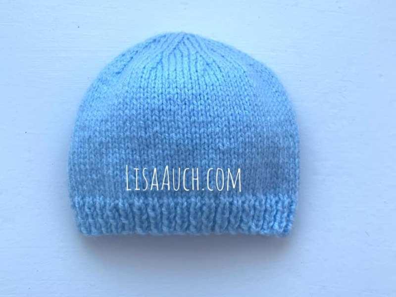 Easy Newborn Baby Hat FREE Knitting Pattern Using Straight ...