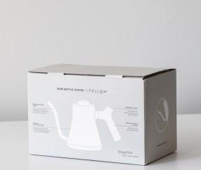 Blue Bottle Coffee x Fellow Kettle Box Packaging