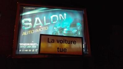 Action Salon de l'auto - La voiture tue - Namur
