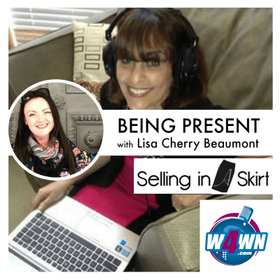 being present selling in a skirt