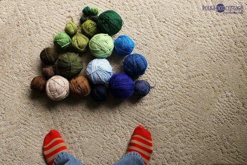 58/365: Blanket-making leftovers