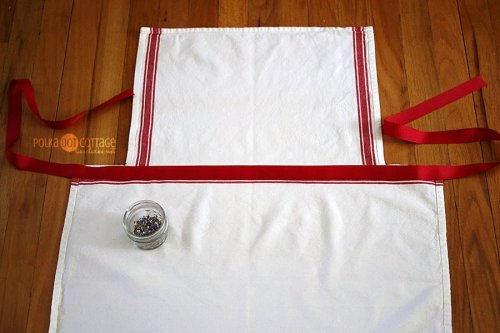 Tea Towel Apron at Polka Dot Cottage