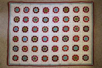 Mod Floral Blanket crochet pattern at Polka Dot Cottage