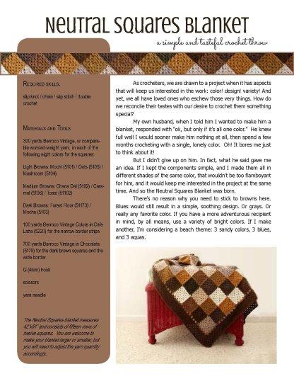 Neutral Squares Blanket crochet pattern at Polka Dot Cottage