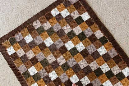 Neutral Squares Blanket crochet pattern at Polka Dot Cottage