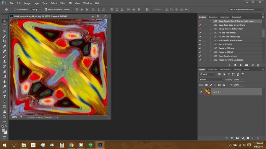 Using Polymer Clay Canes to Make Repeating Patterns in Photoshop: Resizing the Image