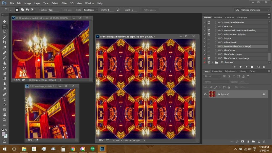 Make Repeating Patterns in Photoshop: Circus Photo