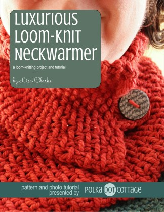 Luxurious Loom Knit Neckwarmer Polka Dot Cottage