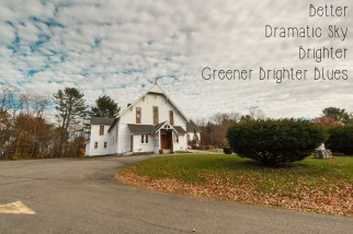 Photoshop Actions and Lightroom Presets: Cairo NY Church - Greener Brighter Blues