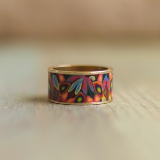 Polka Dot Cottage Channel Ring in Rainbow Jubilee