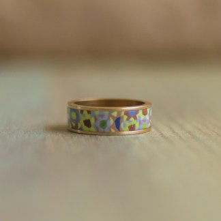 Polka Dot Cottage Channel Ring in Swamp Calico