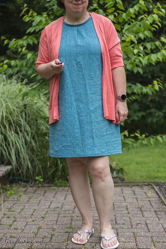 Sewing Summer Sheath Dresses: Blue Dress