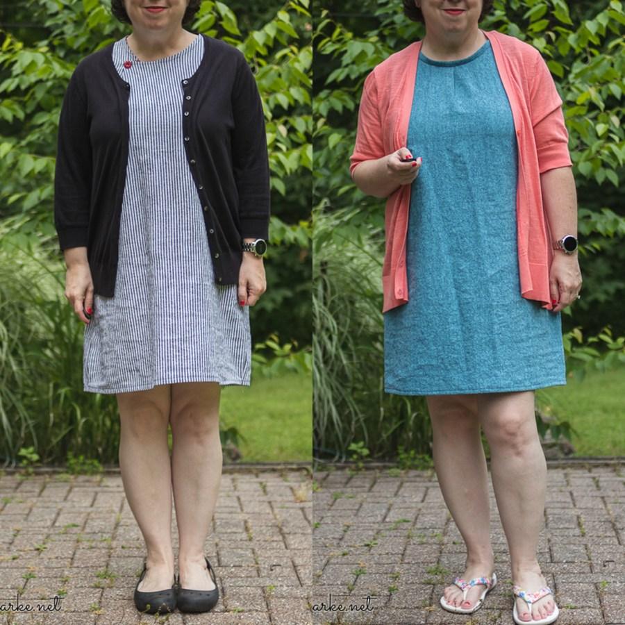 Two Barefoot Summer Sheath Dresses
