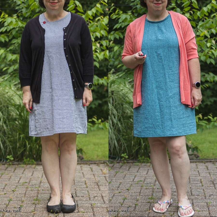 Sewing Two Barefoot Summer Sheath Dresses