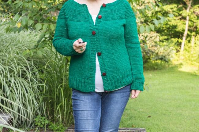 Fireside Cardigan Knitting Pattern, Long Sleeve Version