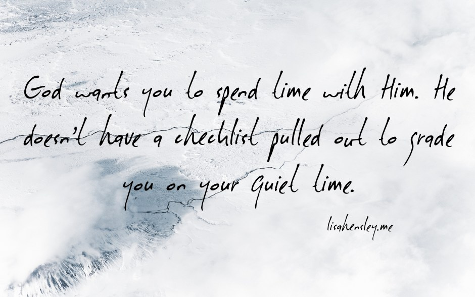 quiet time quote