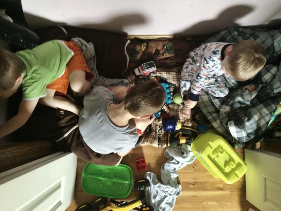 boys in closet